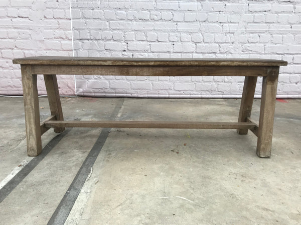 Rustic bench with wood patina  | 40466 (W)
