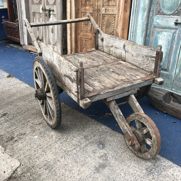 Vintage Indian market stall cart