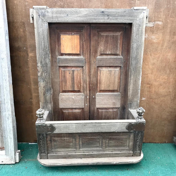 Antique Indian Window Balcony (H175cm | W118cm)