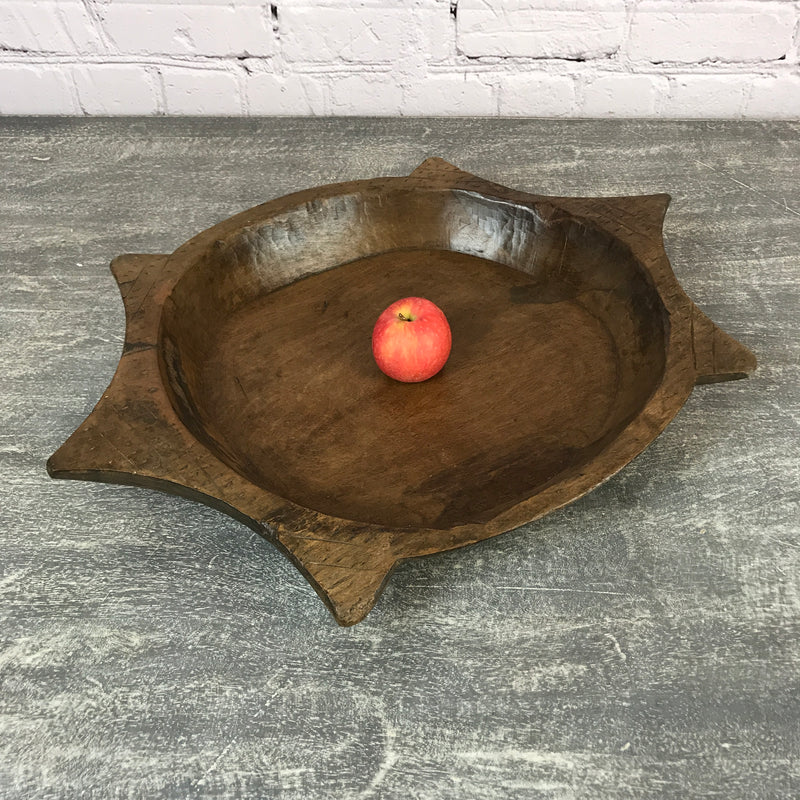 Vintage teak Indian hand carved bowl | ø41.5cm | 45683