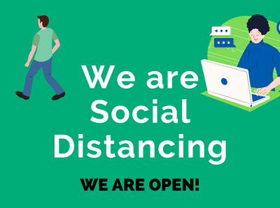 We're Social Distancing