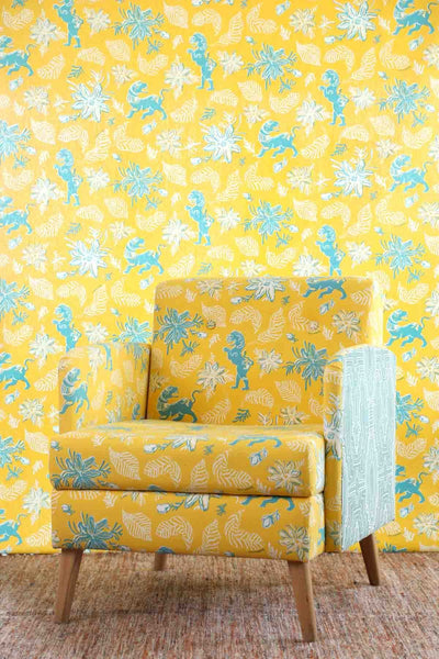 Cotton Duck Upholstery Fabric In Yellow Shade