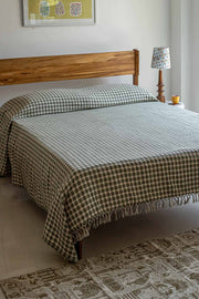Buy Anjur Bedcover (Black/White) Online | Freedomtree.in