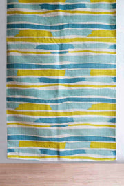 Buy Arabian Sea Printed Rug (Aqua/Yellow) Online | Freedomtree.in
