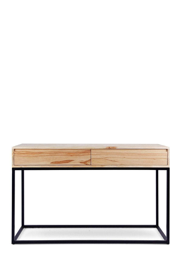 Pine Wood Console In Natural Color And Handcrafted Ropework Design