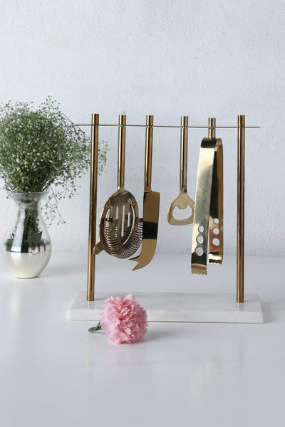 Metal Bar Tools In Gold Color