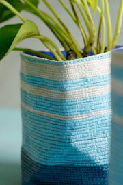 Blues Canvas Indoor Planter (Blue)