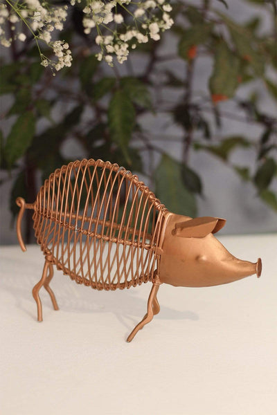 Buy Boar Copper Figurine (Metal) Online | Freedomtree.in