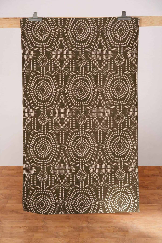 Buy Bold Sej Printed Rug (Deep Khaki) Online | Freedomtree.in