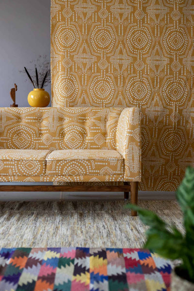 Buy Bold Sej Upholstery Fabric (Naples Yellow) Online | Freedomtree.in