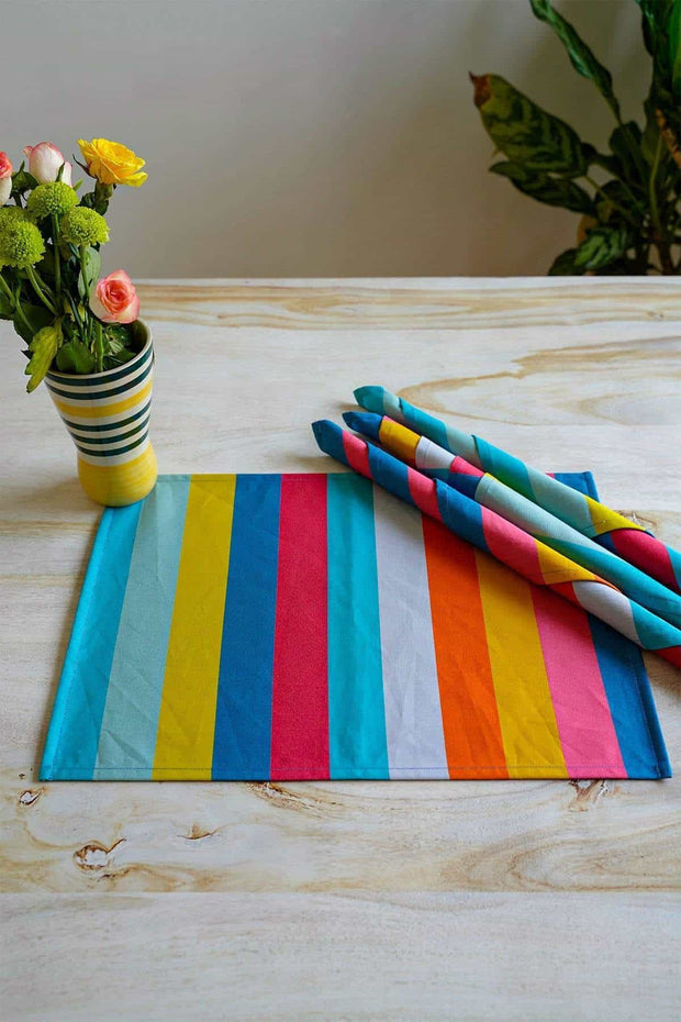 Buy Caivu Striper Table Mat (Set Of 4) Online | Freedomtree.in