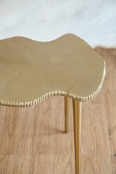 Buy Cartograph Side Table (Gold) Online | Freedomtree.in