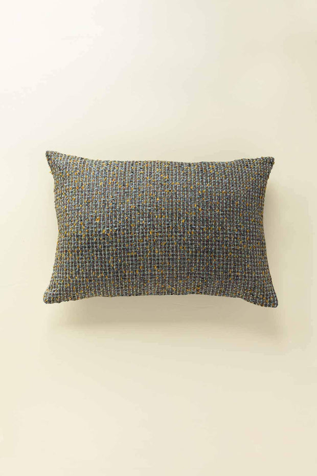 Tweed Cushion Cover In Earthy Shade And Textured Woven Style