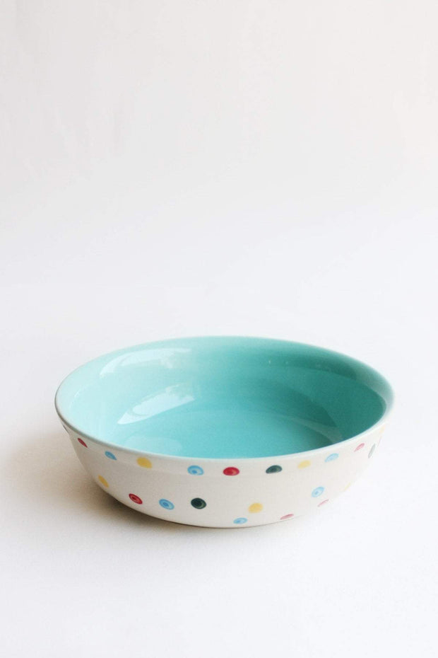 A Set Of 2 Ceramic Pasta Bowl In Mint Color And Handcrafted Design