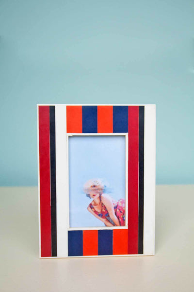 Inlay Photoframe In Multi-Colored Shade And Handcrafted Enamel Style