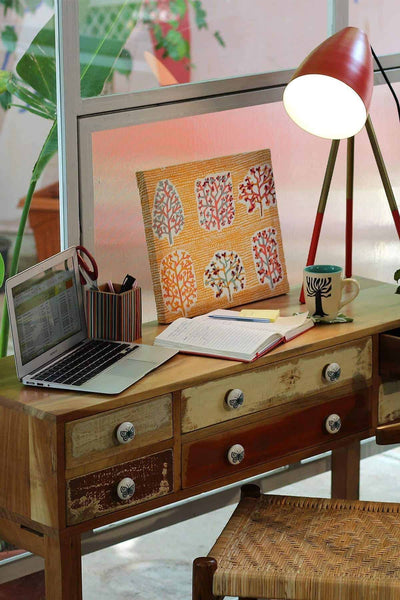 Buy Distressed 6 Drawer Console (Natural) Online | Freedomtree.in