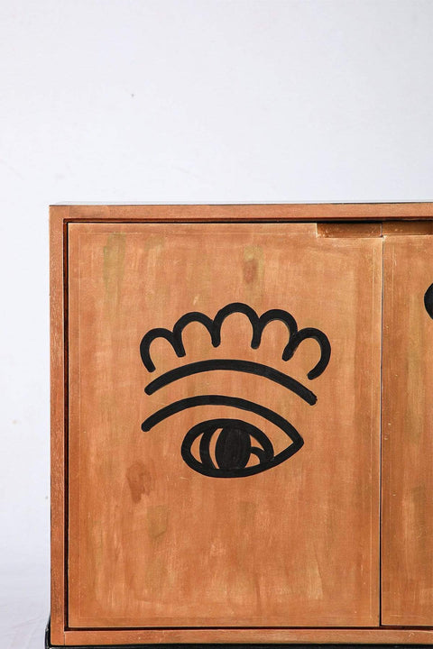 Face To Face Cabinet (Gold/Black)