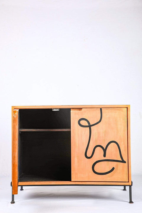 Buy Face To Face Bar Cabinet (Gold/Black) Online | Freedomtree.in