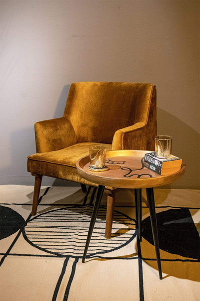 Buy Face To Face Side Table (Gold/Black) Online | Freedomtree.in