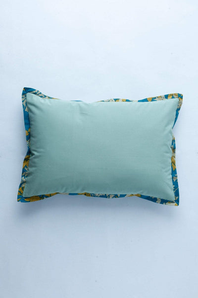 Twill Cushion Cover In Deep Green Color And Handcrafted Design