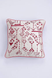 Silk Cushion Cover In White Shade