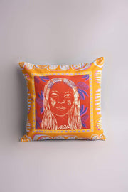 Buy Forest Woman Cushion Cover (Orange Terra) Online | Freedomtree.in