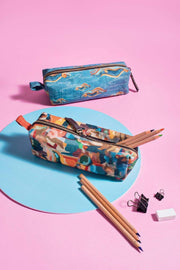 Canvas Pencil Pouch In Multi-Colored Color And Digitally Printed Design