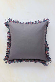 Cotton Duck Cushion Cover In Taupe Shade And Handcrafted Style