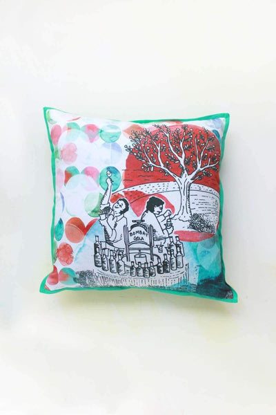 Cotton Satin Cushion Cover And Digital Printed Story Design