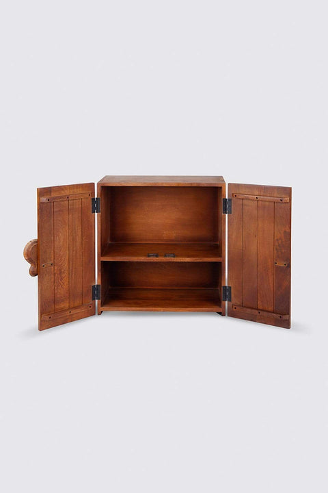 Sheesham Wood Bar Cabinet In Natural Shade And Handcrafted Hardwood Style