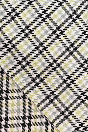 Cotton & Viscose Tweed Upholstery In Grey/Lime Color And Textured Woven Design