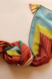 Buy Ikat Abstract Scarve (Multi-Colored) Online | Freedomtree.in