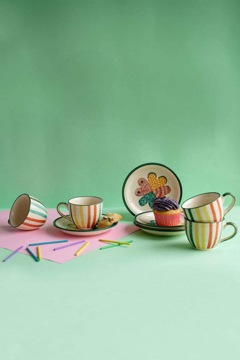 Joyee Cup And Saucer (Set of 4)