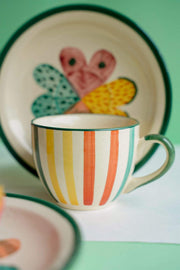 Buy Joyee Cup And Saucer (Multi-Colored) Online | Freedomtree.in