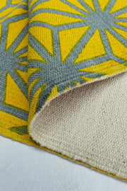 Kiwach Printed Rug (Yellow/Grey)