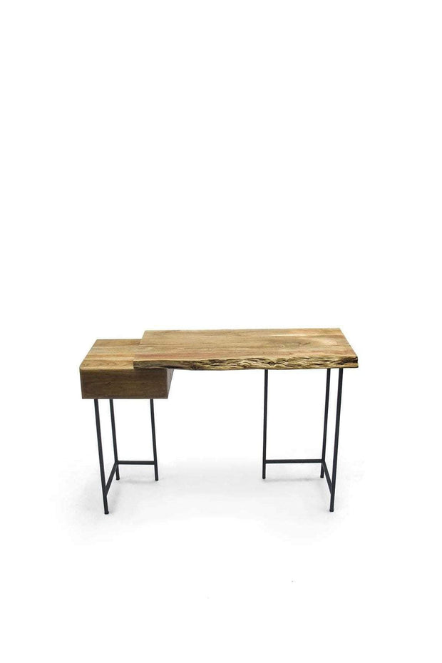 Acacia Console In Natural Shade And Live Edge Natural Wood Design