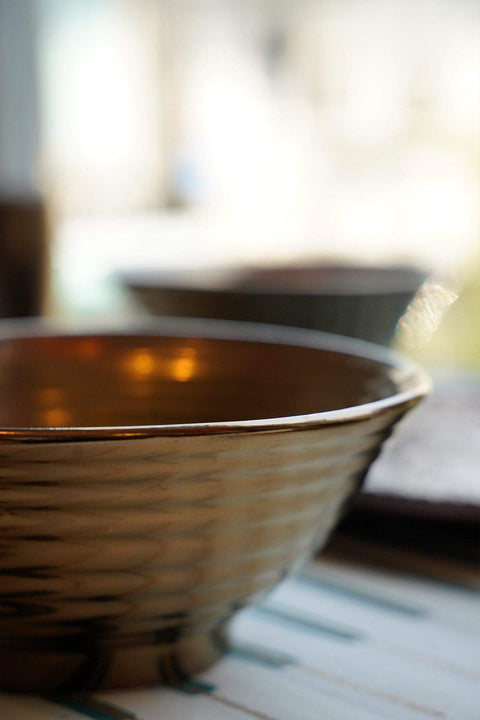 Ceramic Bowl In Gold Shade