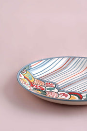 Ceramic Rice Platter In Pastel Color
