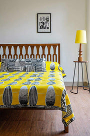 Buy Kuppi Bedcover (Yellow) Online | Freedomtree.in