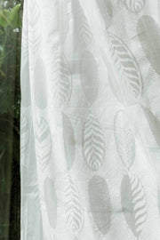 Leaf Alone Khadi Sheer Fabric And Curtains