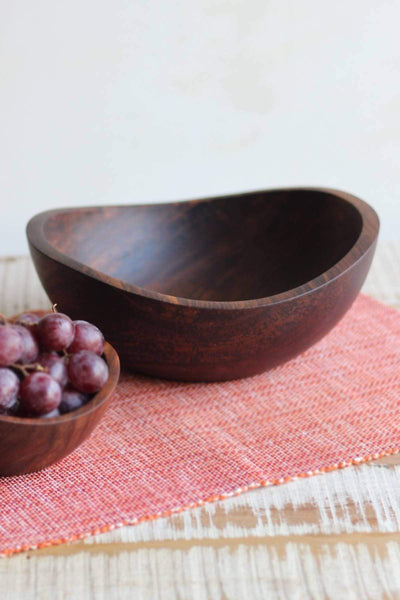 Sheesham Wood Bowl In Natural Shade And Natural Wood Design