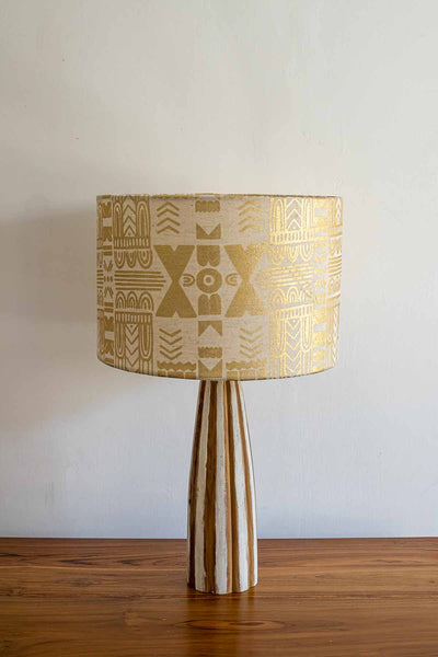 Buy Madia Drum Lampshade (Gold) Online | Freedomtree.in