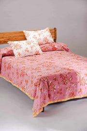 Buy Mahua Bedcover (Pink/Brown) Online | Freedomtree.in