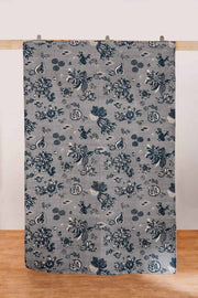 Buy Mahua Printed Rug (Grey/Blue) Online | Freedomtree.in