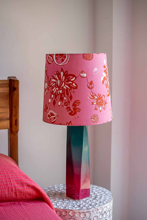 Buy Mahua Taper Lampshade (Pink) Online | Freedomtree.in
