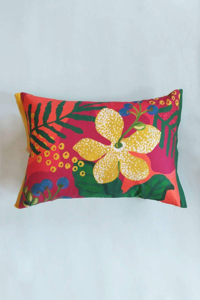 Cotton Satin Cushion Cover In Multi-Colored Shade And Handcrafted Design