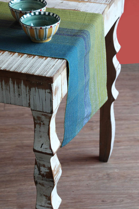 Woven Cotton Table Runner In Multi-Colored Color