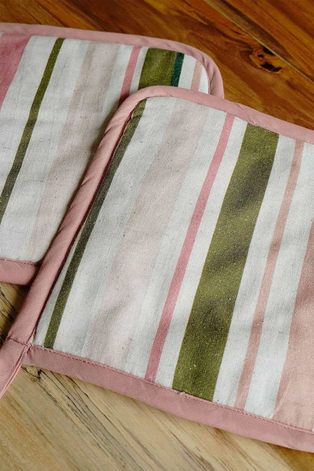 Buy Meadow Stripe Pot Holder (Set Of 2) Online | Freedomtree.in