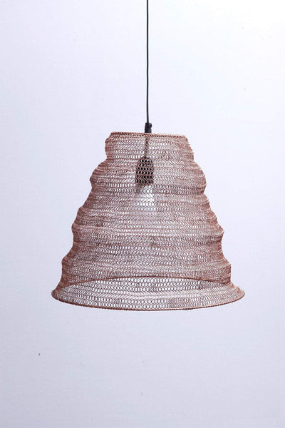 Metal Cone Pendant Lamp In Metallic Shade And Handcrafted Industrial Design