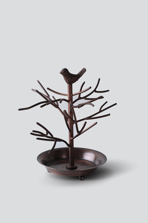 Metal Necklace Stand In Copper Shade